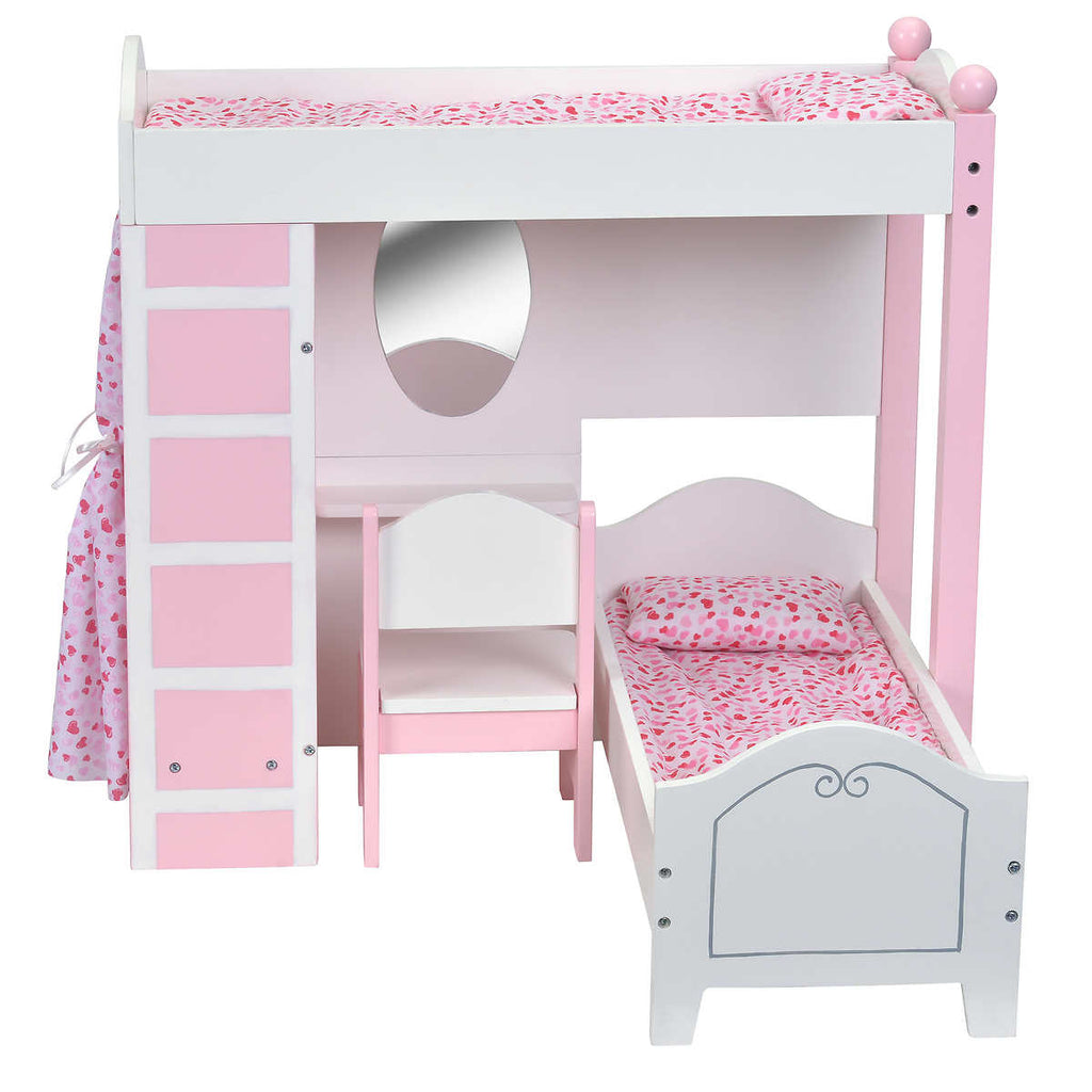 Pleasing Doll Loft Bunk Bed Set With Vanity And Chair Ocoug Best Dining Table And Chair Ideas Images Ocougorg