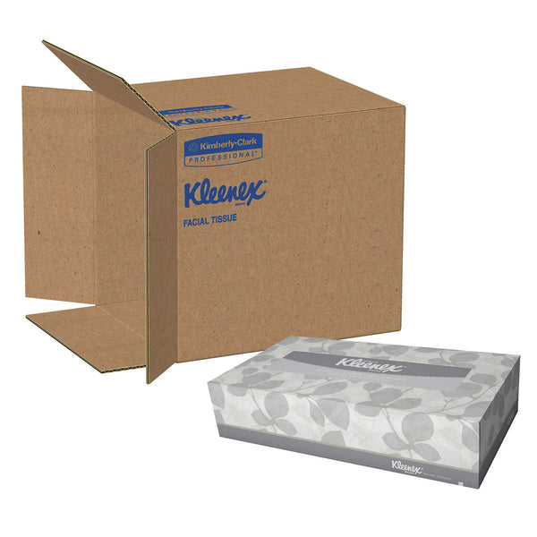 Kleenex Facial Tissue Convenience Case 2-ply, White, 12-count