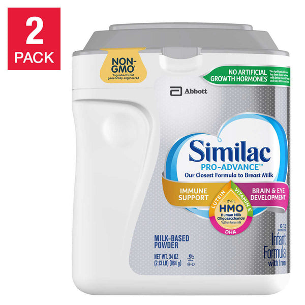 Similac Pro-Advance HMO Infant Formula 34 oz, 2-count