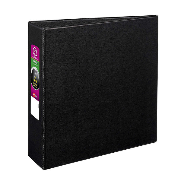 Avery Durable Non-View Binder with Slant Rings, Black