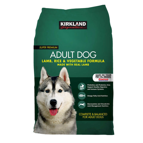 Kirkland Signature Adult Formula Lamb, Rice and Vegetable Dog Food 40 lb.