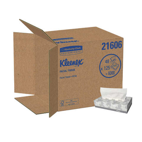 Kleenex Facial Tissues 2-ply, White, 48-count