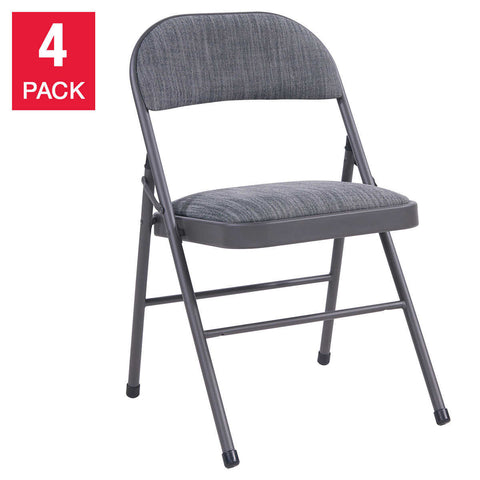 Maxchief Deluxe Upholstered Padded Folding Chair, 4-pack