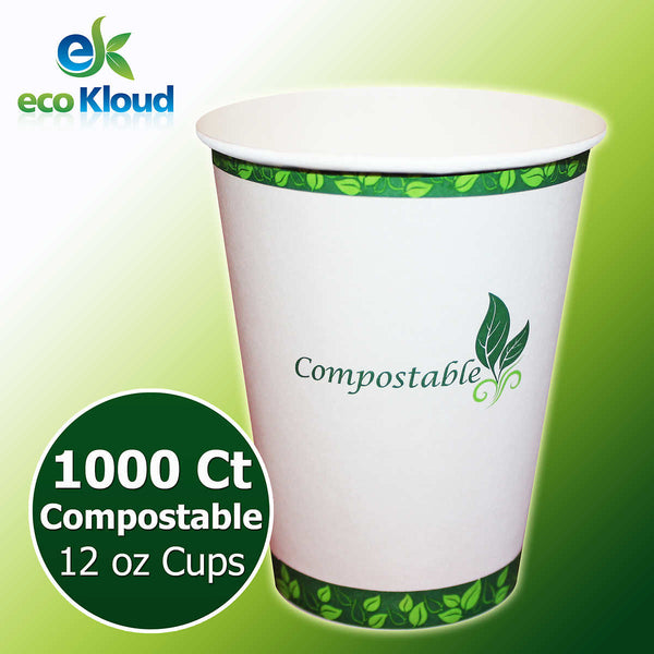 Eco Cloud Hot or Cold Cups 12 oz, 1000-count