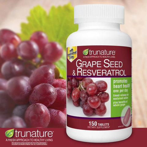 trunature Grape Seed and Resveratrol, 150 Tablets