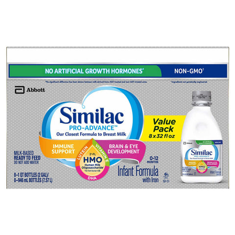 Similac Pro-Advance HMO Ready To Feed Infant Formula 8-count, 32 fl oz