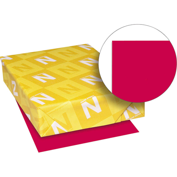 Neenah Astrobrights Color Paper, Letter, 24lb, 500 Sheets, Re-Entry Red