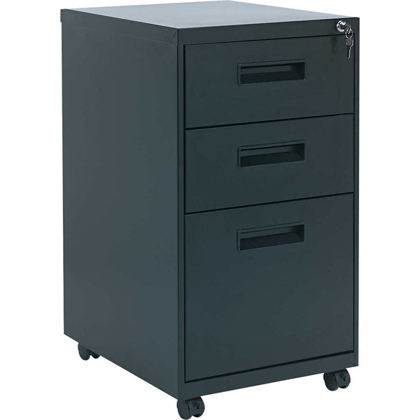 "Alera Mobile 2 Box/1 File Pedestal 19-3/4""D Black"