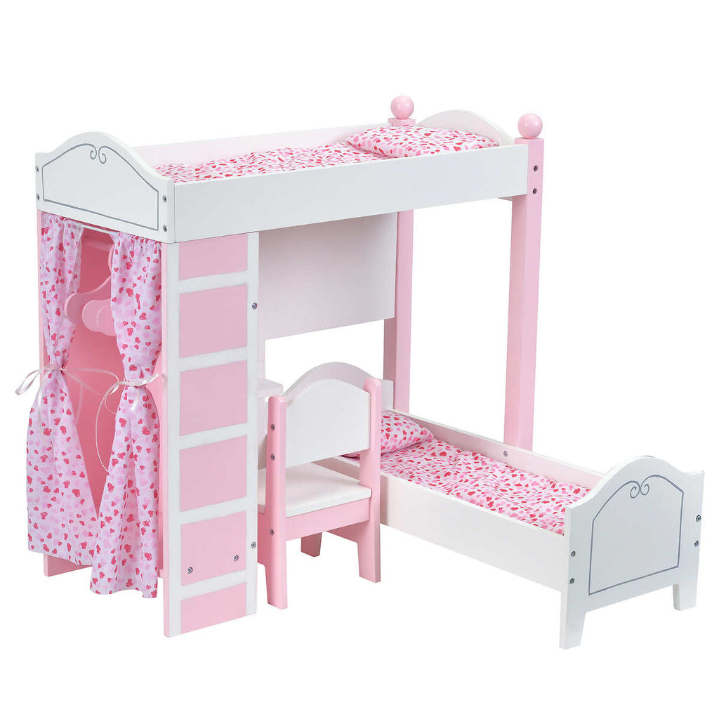 Pleasant Doll Loft Bunk Bed Set With Vanity And Chair Ocoug Best Dining Table And Chair Ideas Images Ocougorg