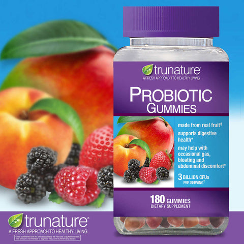 trunature Digestive Probiotic, 180 Fruit Gummies