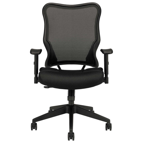 basyx Black Mesh Swivel/Tilt High-Back Chair