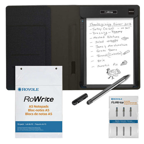 Royole RoWrite Tablet with Bonus 10-pack Paperand 3 Pen Ink Refills
