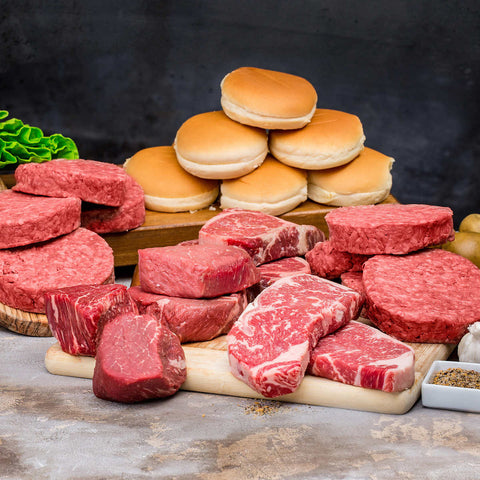 Chicago Steak Premium Angus Beef Butcher Assortment , 8 lbs.