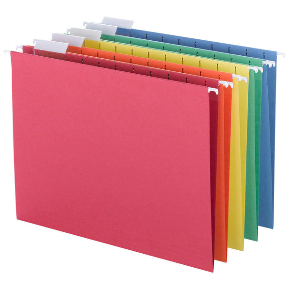 Smead Hanging File Folders, 1/5 Tab, Letter, Assorted Colors, 25-count