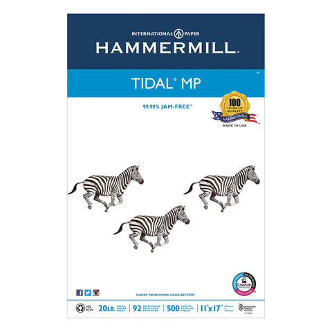 Hammermill Tidal MP 10    Recycled Printer Paper, 11 x 17, 20lb, 92-Bright, 500 sheets