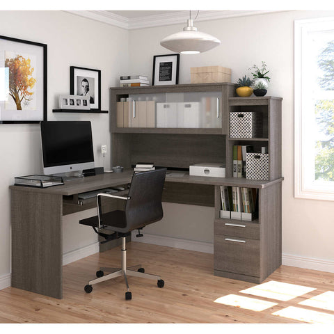 Sutton L-Shape Desk with Hutch