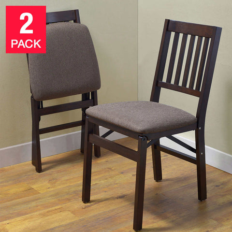 Stakmore Solid Wood Folding Chair, 2-pack