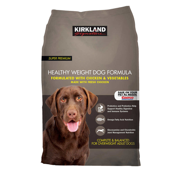 Kirkland Signature Healthy Weight Formula Chicken & Vegetable Dog Food 40 lb.