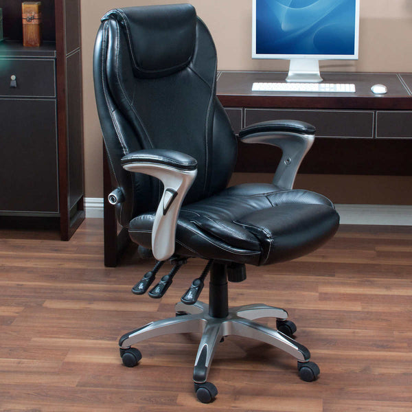 Via Thomasville Ergo Bonded Leather Manager's Chair