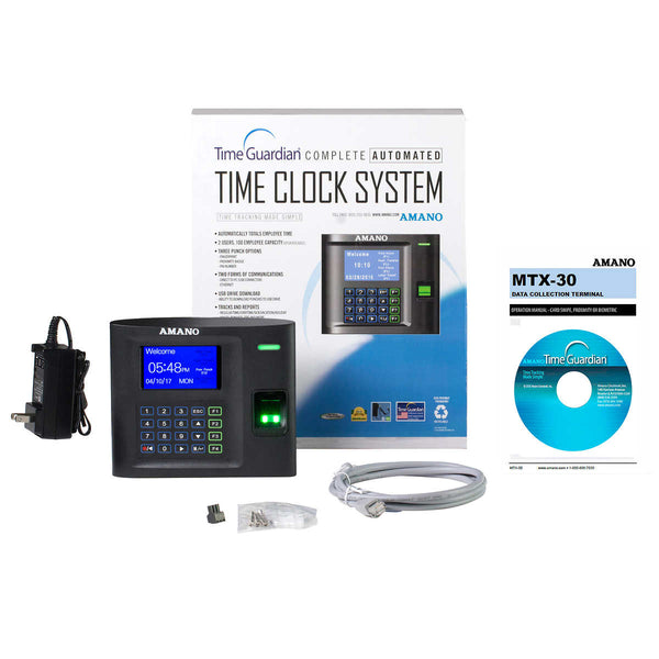 Amano Wi-Fi Biometric Time Clock Bundle