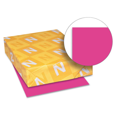 Neenah Astrobrights Color Paper, Letter, 24lb, 500 Sheets, Fireball Fuchsia
