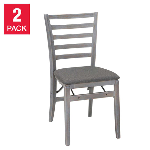 Wood Folding Chair Gray, 2-pack