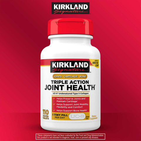 Kirkland Signature Triple Action Joint Health, 110 Coated Tablets