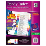 Avery Ready Index Customizable Table of Contents Multicolor Dividers, Letter Size, 1-31 Tabs, 3-count