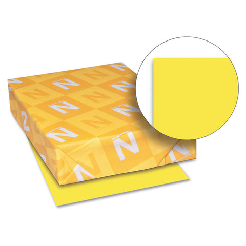 Neenah Astrobrights Color Paper, Letter, 24lb, 500 Sheets, Lift-Off Lemon