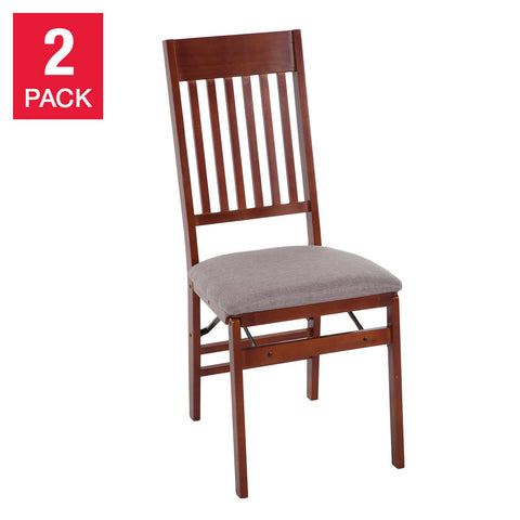 Mission Wood Folding Chair, 2-pack