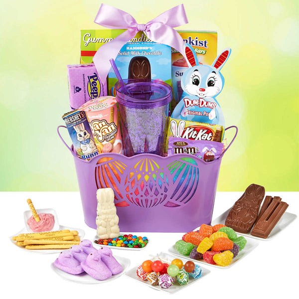 Happy Easter Purple Basket