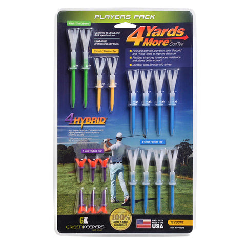 4 Yards More Golf Tee Players Pack