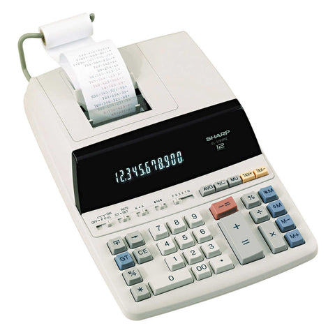 Sharp Two Color Printing Calculator 12-Digit SHR EL1197PIII