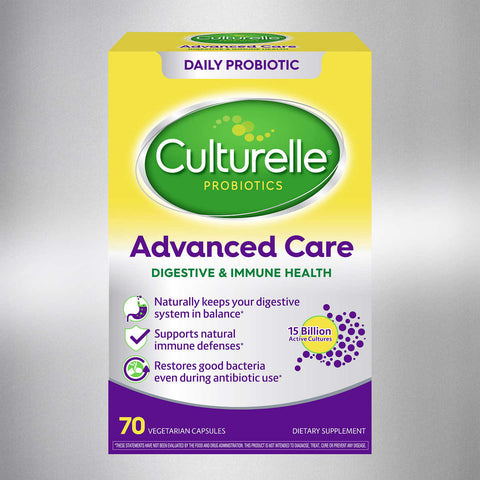 Culturelle Advanced Care Digestive & Immune Health Probiotic, 70 Vegetarian Capsules
