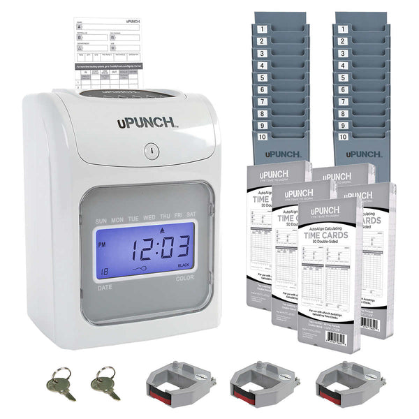 uPunch PB4500 Calculating Time Clock Bundle