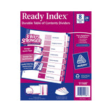 Avery Ready Index, Table of Contents Dividers, 8-Tab, 24-Sets
