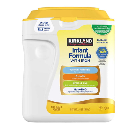 Kirkland Signature Non-GMO* Infant Formula 34 oz, 3-count