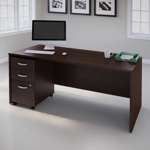 Bush Series C Manager's Desk in Mocha Cherry Finish