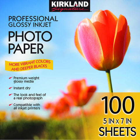 "Kirkland Signature 5"" X 7"" Professional Glossy Photo Paper"