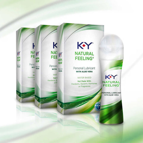 K-Y Natural Feeling Personal Lubricant, 3-pack
