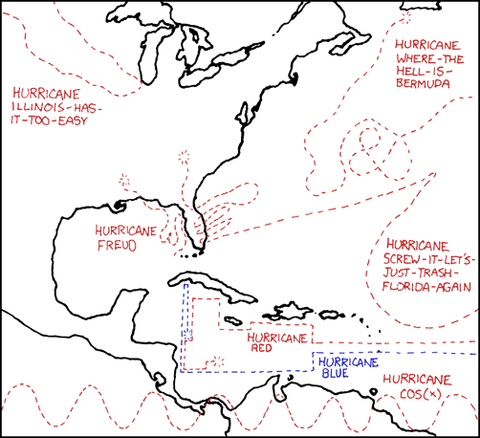 XKCD 453 Upcoming Hurricanes