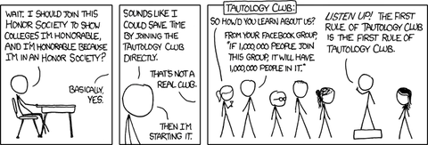 XKCD 703 Honor Societies