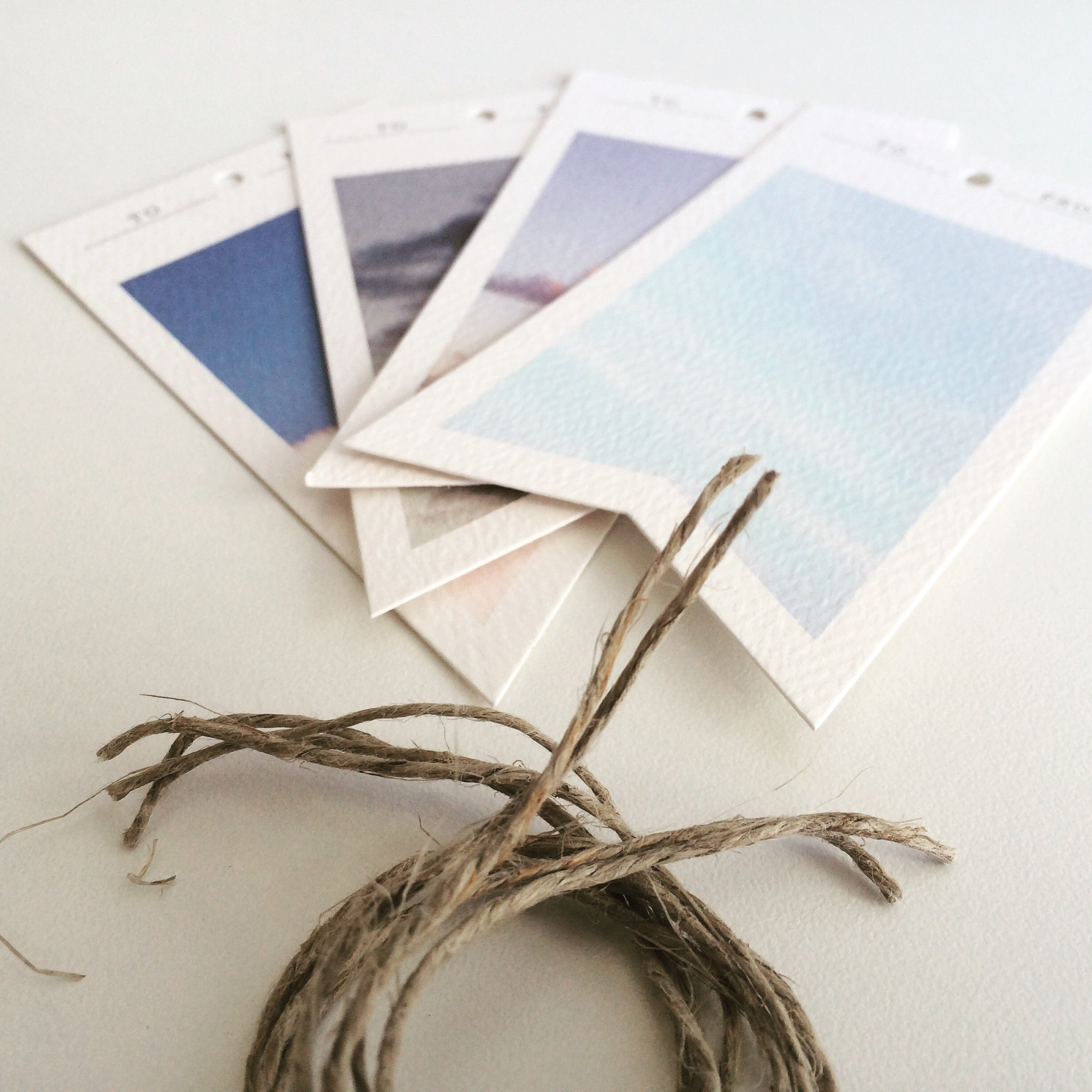 Gift tags and twine