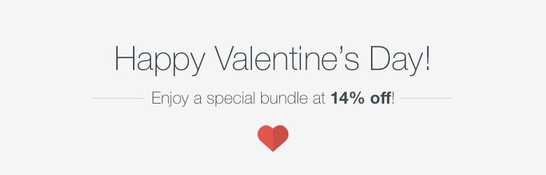 Happy Valentine's Day! Enjoy 14% Off this special bundle.