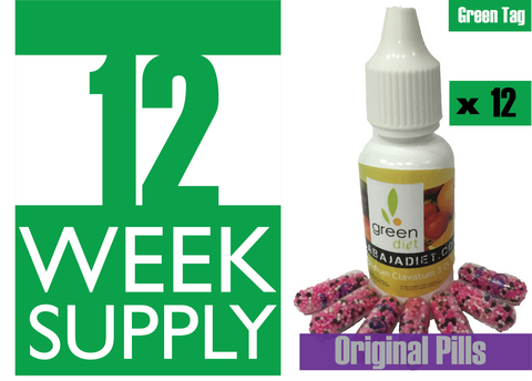 12 Weeks Supply of Green Diet w/ Original Pills