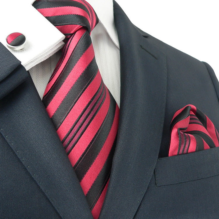 Red & Black  Tie Set