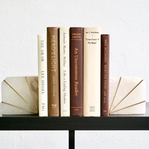 Bundle of Brown and Beige Books for Decoration