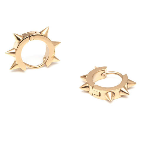 Roxie Gold Hoops with Spikes