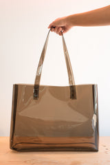 Mirage Tote in Smoke Vinyl