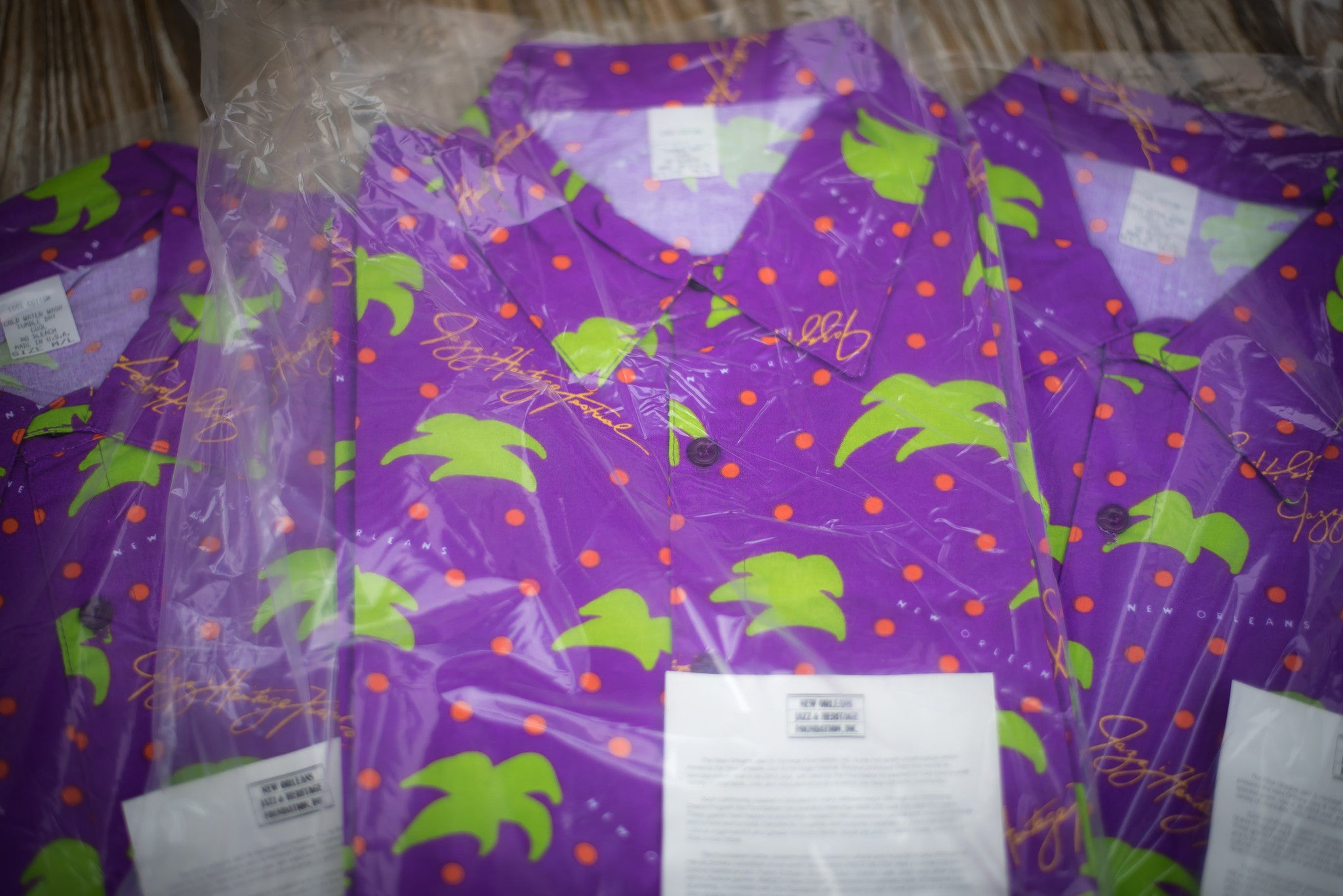 Vintage Deadstock 1991 New Orleans Jazz Fest Hawaiian Shirt